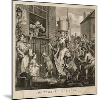 The Enraged Musician-William Hogarth-Mounted Giclee Print