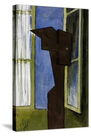 Figure at a Window-Julio González-Stretched Canvas Print