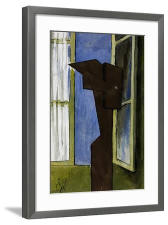 Figure at a Window-Julio González-Framed Giclee Print