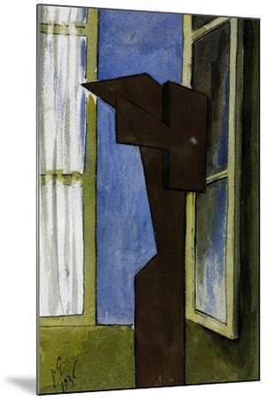 Figure at a Window-Julio González-Mounted Giclee Print