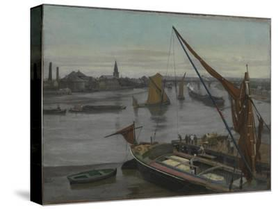 Battersea Reach-Walter Greaves-Stretched Canvas Print