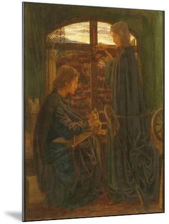Mary in the House of St John-Dante Gabriel Rossetti-Mounted Giclee Print
