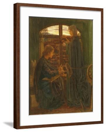 Mary in the House of St John-Dante Gabriel Rossetti-Framed Giclee Print