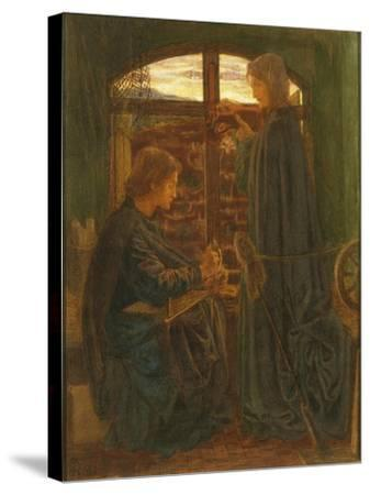 Mary in the House of St John-Dante Gabriel Rossetti-Stretched Canvas Print