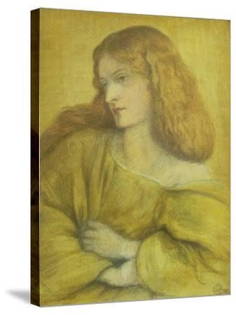 Woman in Yellow-Dante Gabriel Rossetti-Stretched Canvas Print