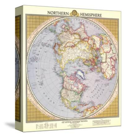 1946 Northern Hemisphere Map-National Geographic Maps-Stretched Canvas Print