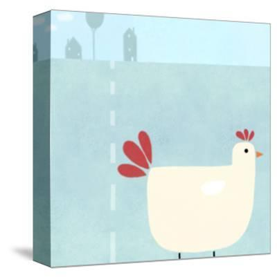 Chick on Farm--Stretched Canvas Print