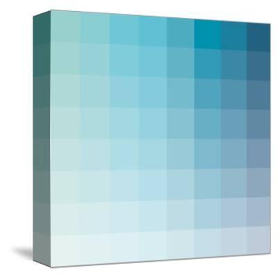 Aqua Square Spectrum-Kindred Sol Collective-Stretched Canvas Print