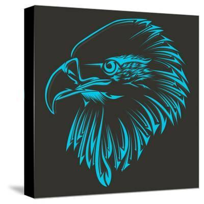 Bird Tribal Tattoo- achupret-Stretched Canvas Print