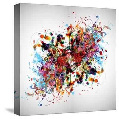 Bright Abstract Background-reznik_val-Stretched Canvas Print
