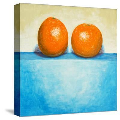 A Painting of Two Oranges-clivewa-Stretched Canvas Print