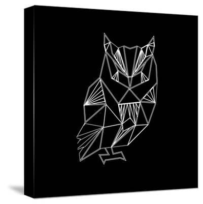 Owl Polygon-Lisa Kroll-Stretched Canvas Print