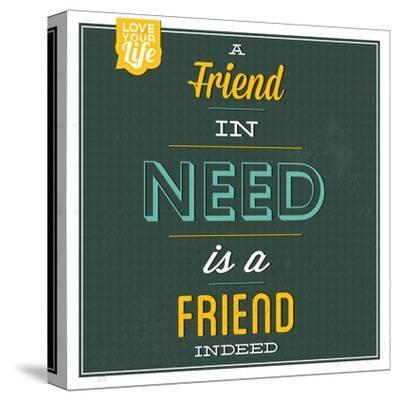 Friend Indeed-Lorand Okos-Stretched Canvas Print