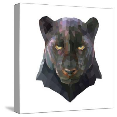 Panther-Lora Kroll-Stretched Canvas Print