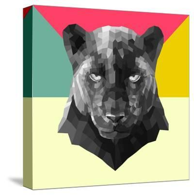 Party Panther-Lisa Kroll-Stretched Canvas Print
