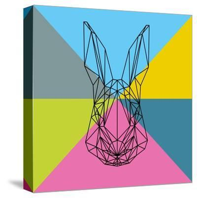 Party Rabbit-Lisa Kroll-Stretched Canvas Print