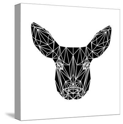 Black Baby Deer-Lisa Kroll-Stretched Canvas Print