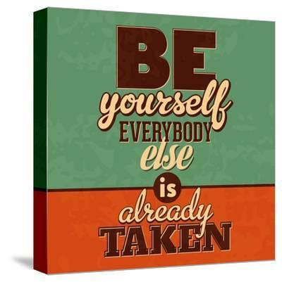 Everybody Else Is Already Taken-Lorand Okos-Stretched Canvas Print