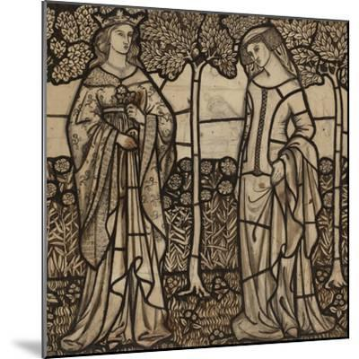 Guinevere and Iseult: Cartoon for Stained Glass-William Morris-Mounted Premium Giclee Print