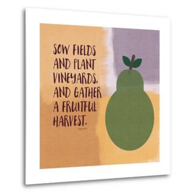Psalm107 Fruitfulharvest-Linda Woods-Metal Print
