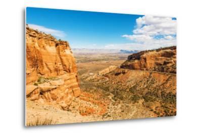 West Colorado Landscape-duallogic-Metal Print