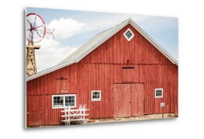 Red Barn-urbanlight-Metal Print
