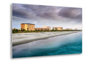Cocoa Beach, Florida Beachfront Hotels and Resorts.-SeanPavonePhoto-Metal Print