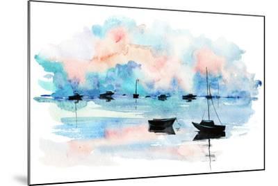 Boat-okalinichenko-Mounted Art Print