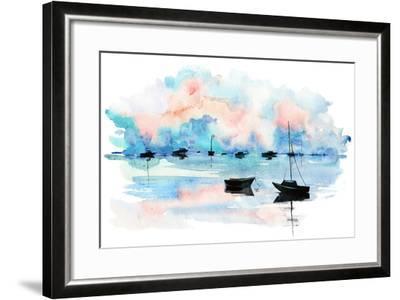 Boat-okalinichenko-Framed Art Print