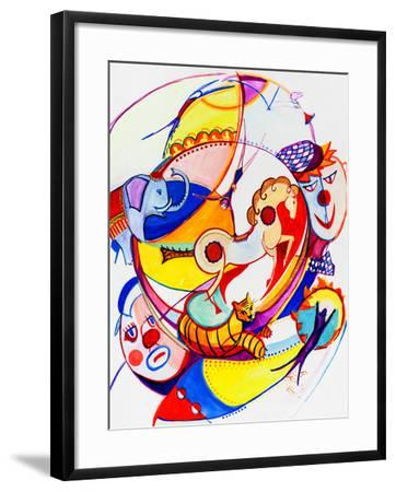 Circus-krimzoya46-Framed Art Print