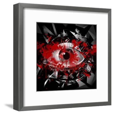Eye-reznik_val-Framed Art Print