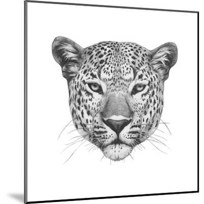 Original Drawing of Leopard. Isolated on White Background.-victoria_novak-Mounted Art Print