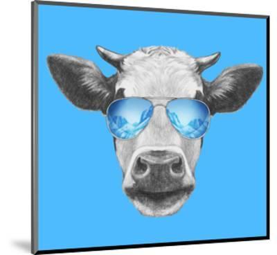 Portrait of Cow. Hand Drawn Illustration.-victoria_novak-Mounted Art Print
