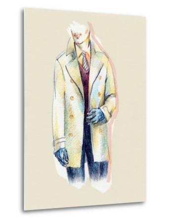 Man in Coat-Anna Ismagilova-Metal Print