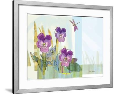Green Earth Pansie 13-Robbin Rawlings-Framed Art Print