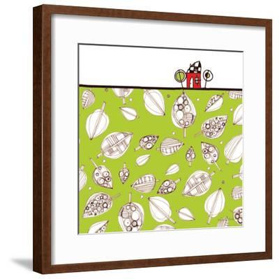 Red House Leaf Field-Robbin Rawlings-Framed Art Print