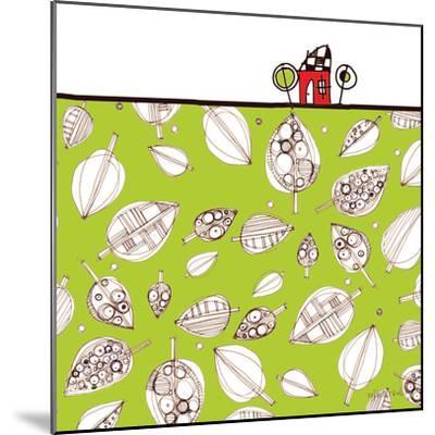 Red House Leaf Field-Robbin Rawlings-Mounted Art Print