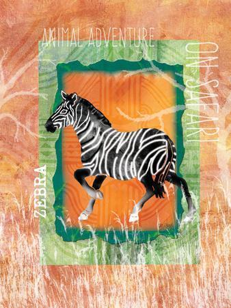 Safari Adventure Jungle Zebra-Bee Sturgis-Framed Art Print