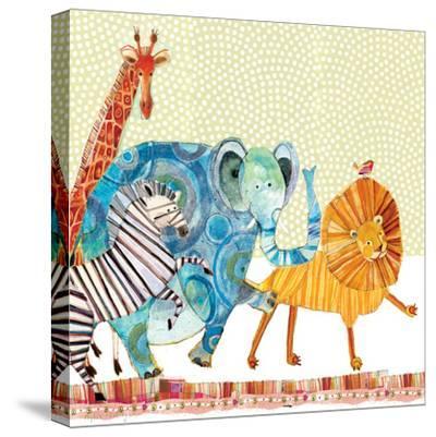 Safari Parade-Robbin Rawlings-Stretched Canvas Print