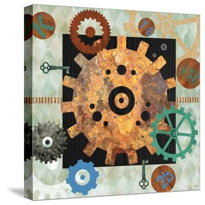 Steampunk City-Bee Sturgis-Stretched Canvas Print