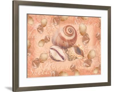 Shells on Shore-Bee Sturgis-Framed Art Print