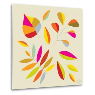 Multi Leaves - 4 Seasons-Dominique Vari-Metal Print