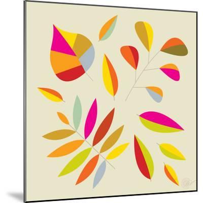 Multi Leaves - 4 Seasons-Dominique Vari-Mounted Art Print