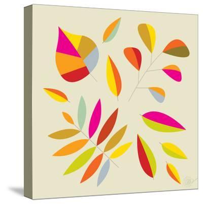 Multi Leaves - 4 Seasons-Dominique Vari-Stretched Canvas Print