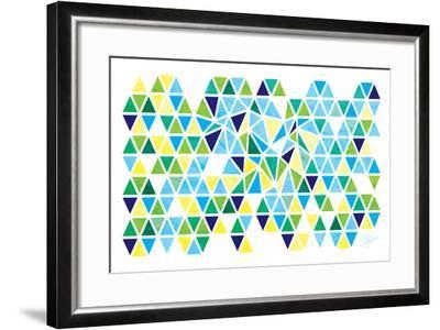Triangles - Spring-Dominique Vari-Framed Art Print
