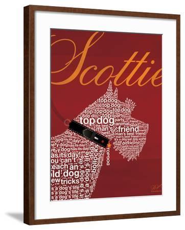 Top Dog Scottie-Dominique Vari-Framed Art Print