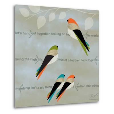 Birds Life - Friendship-Dominique Vari-Metal Print