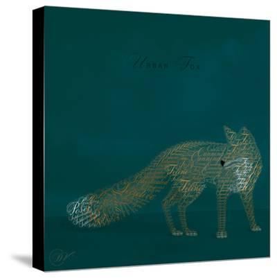 Urban Fox - Blue-Dominique Vari-Stretched Canvas Print