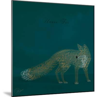 Urban Fox - Blue-Dominique Vari-Mounted Art Print