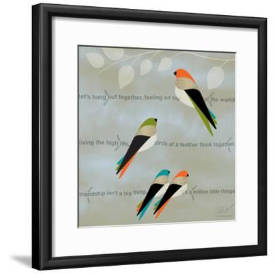 Birds Life - Friendship-Dominique Vari-Framed Art Print